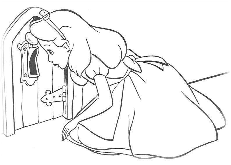 Ausmalbilder für Kinder Alice im Wunderland 13