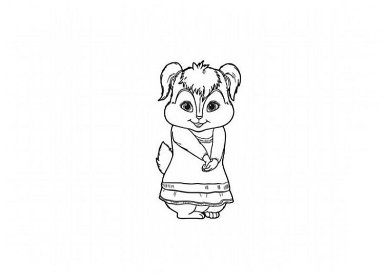 ausmalbilder für kinder alvin und die chipmunks 14