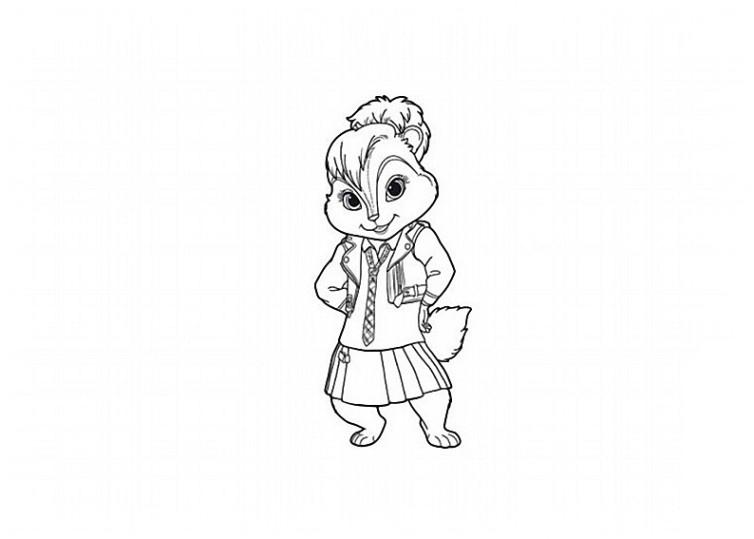 ausmalbilder für kinder alvin und die chipmunks 2