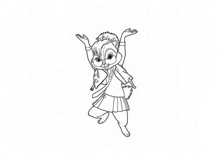 Ausmalbilder F 252 R Kinder Alvin Und Die Chipmunks 3