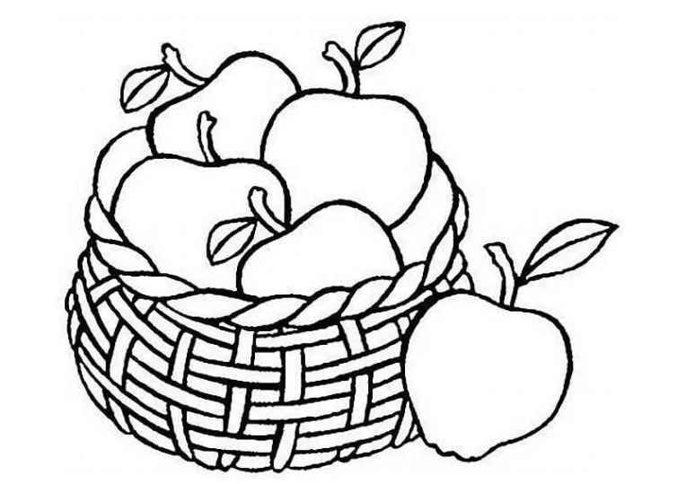 Ausmalbilder für Kinder Apfel 18