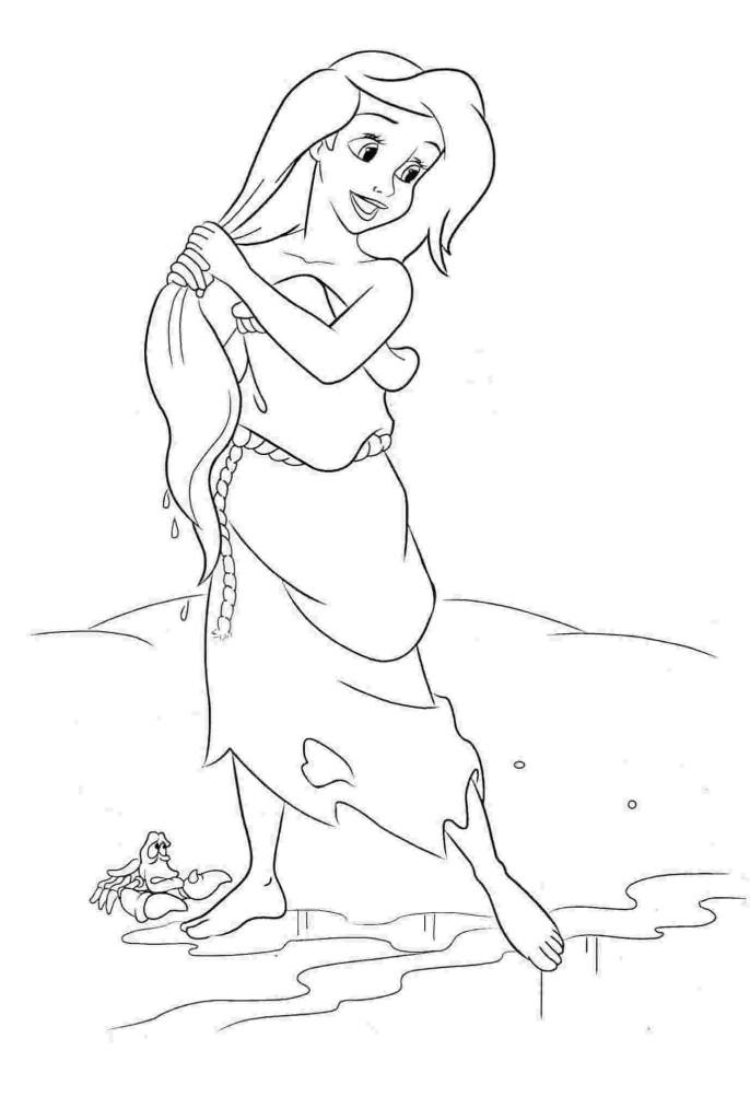 ausmalbilder für kinder arielle, die meerjungfrau 11