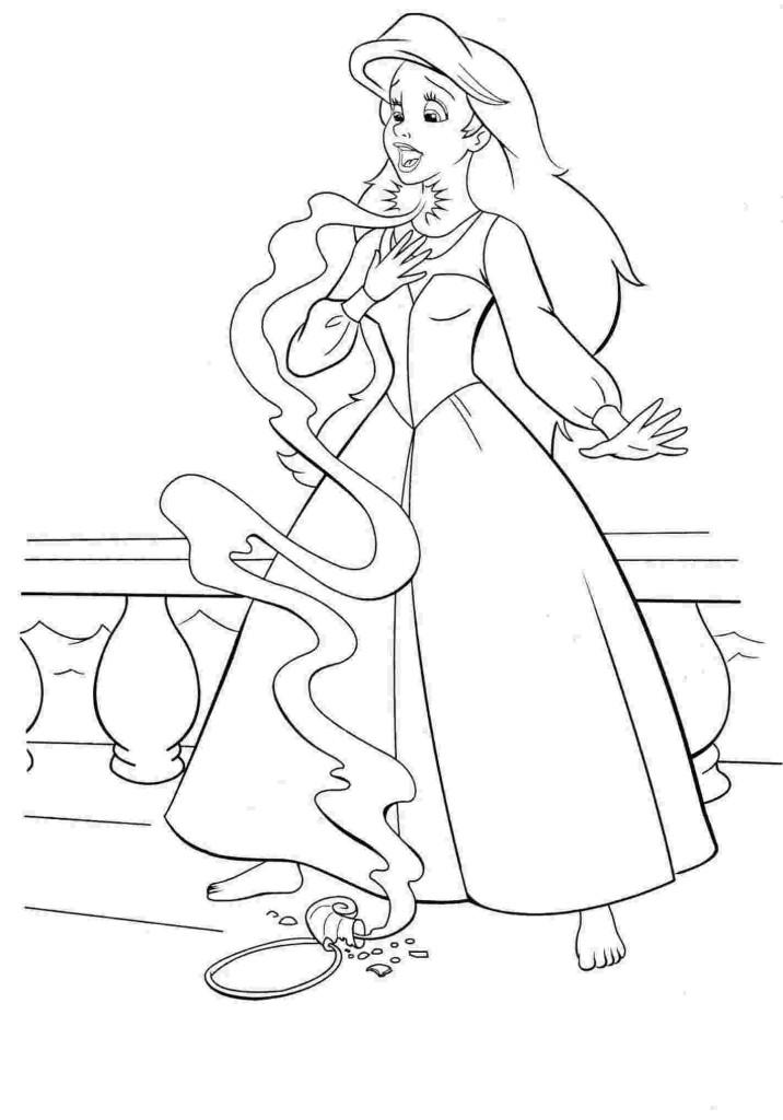 Ausmalbilder für Kinder Arielle, die Meerjungfrau 22