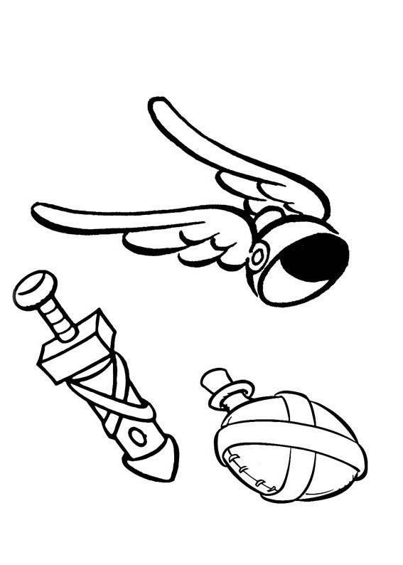 ausmalbilder für kinder asterix und obelix 2