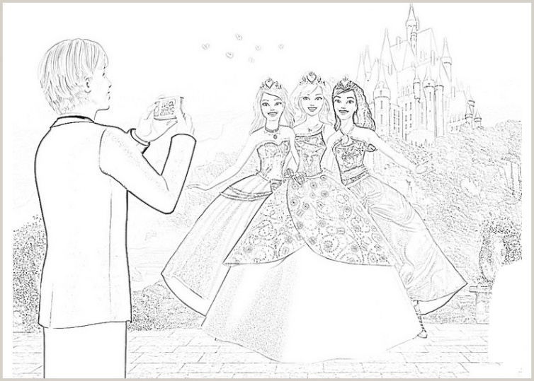 Ausmalbilder für Kinder Barbie Die Prinzessinnen Akademie 7