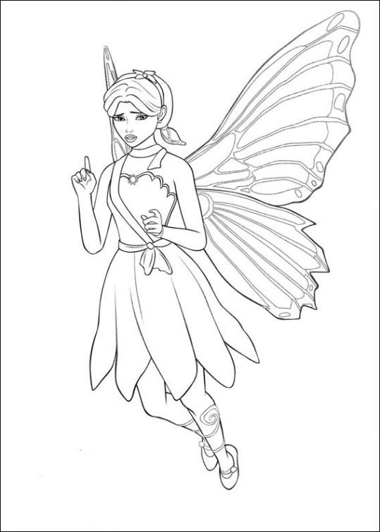 Ausmalbilder Für Kinder Barbie Mariposa 9
