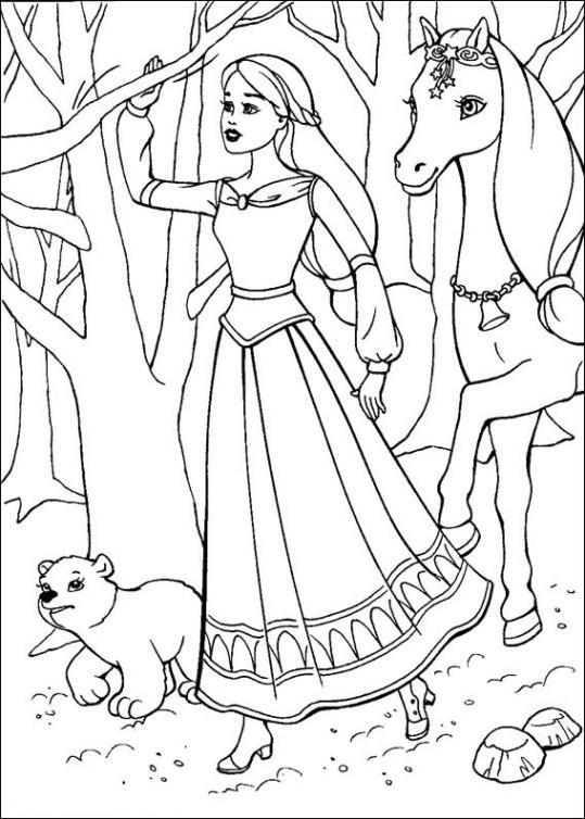 Ausmalbilder für Kinder Barbie und der geheimnisvolle Pegasus 11