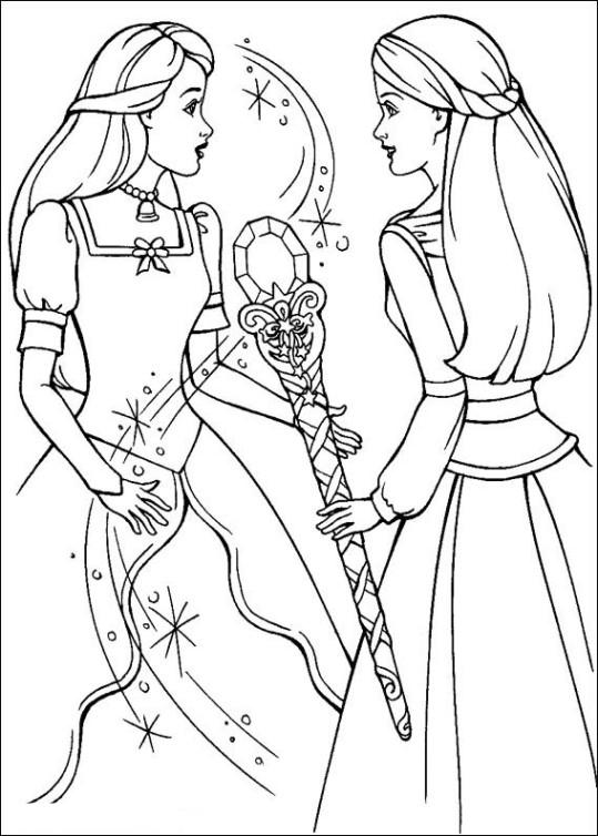 Ausmalbilder für Kinder Barbie und der geheimnisvolle Pegasus 20