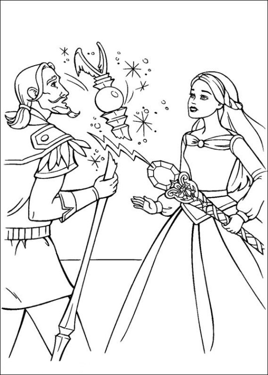 Ausmalbilder für Kinder Barbie und der geheimnisvolle Pegasus 22