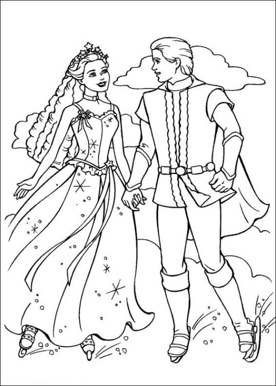 Ausmalbilder für Kinder Barbie und der geheimnisvolle Pegasus 25
