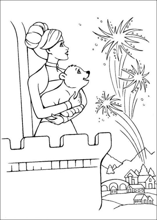 Ausmalbilder für Kinder Barbie und der geheimnisvolle Pegasus 5