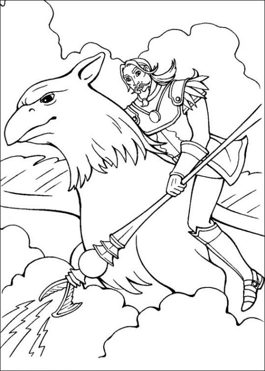 Ausmalbilder für Kinder Barbie und der geheimnisvolle Pegasus 6