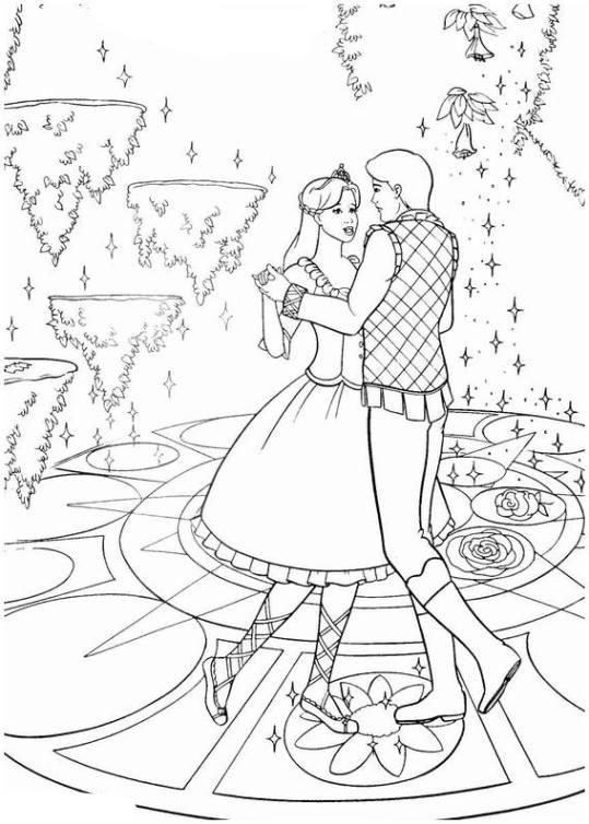 Ausmalbilder für Kinder Barbie und die 12 tanzenden Prinzessinnen 12