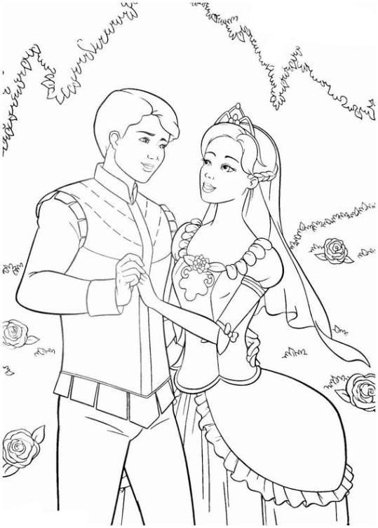 Ausmalbilder Für Kinder Barbie Und Die 12 Tanzenden Prinzessinnen 16