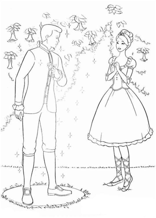 Ausmalbilder für Kinder Barbie und die 12 tanzenden Prinzessinnen 2