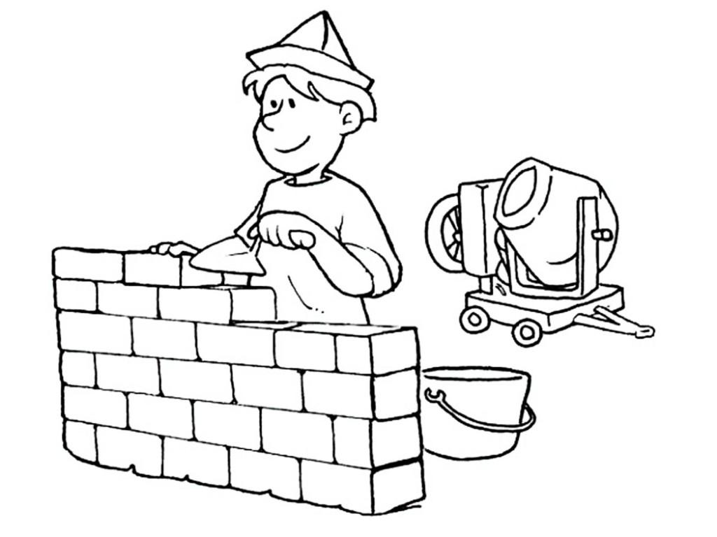 Ausmalbilder für Kinder Berufe 19