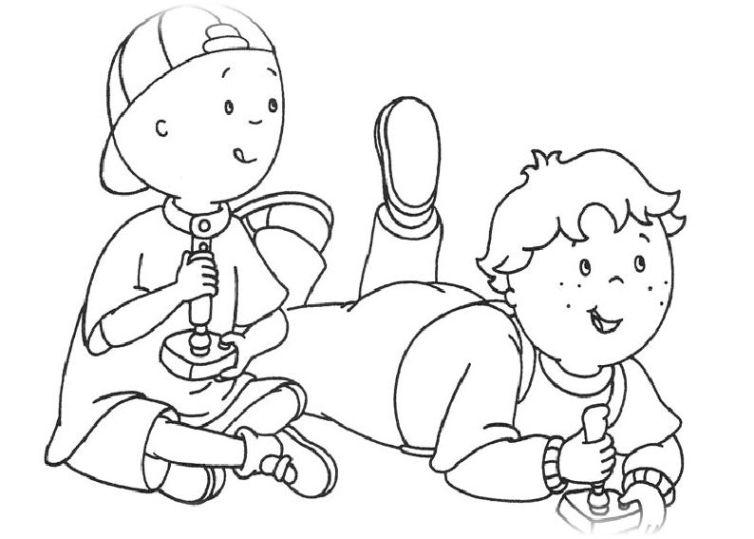 ausmalbilder für kinder caillou 15
