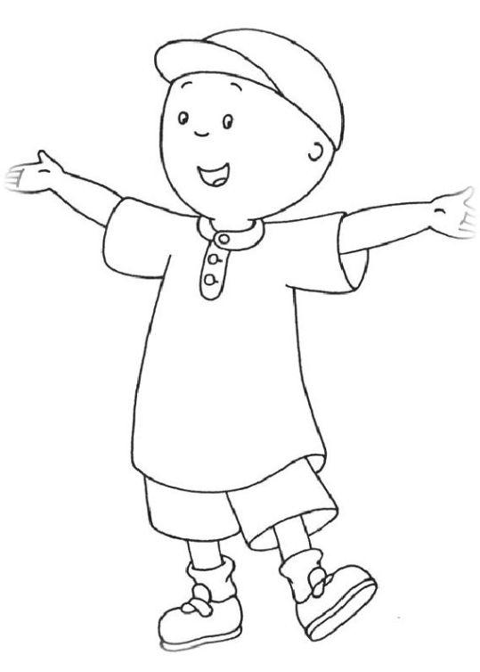 ausmalbilder für kinder caillou 16