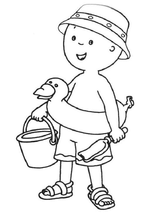 ausmalbilder für kinder caillou 3