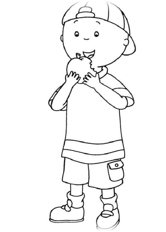 ausmalbilder für kinder caillou 4