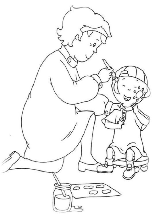 ausmalbilder für kinder caillou 9