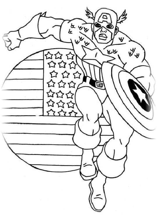 Ausmalbilder Für Kinder Captain America 3