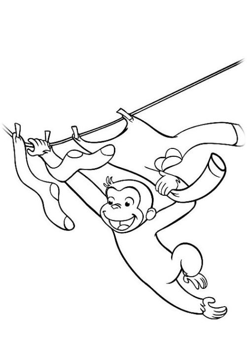 Ausmalbilder Für Kinder Coco Der Neugierige Affe 10
