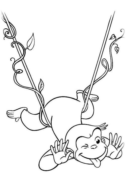 Ausmalbilder Für Kinder Coco Der Neugierige Affe 11