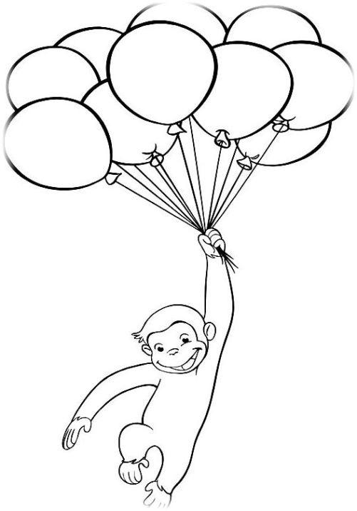 ausmalbilder für kinder coco der neugierige affe 14
