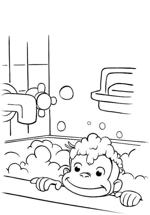 Ausmalbilder Für Kinder Coco Der Neugierige Affe 17