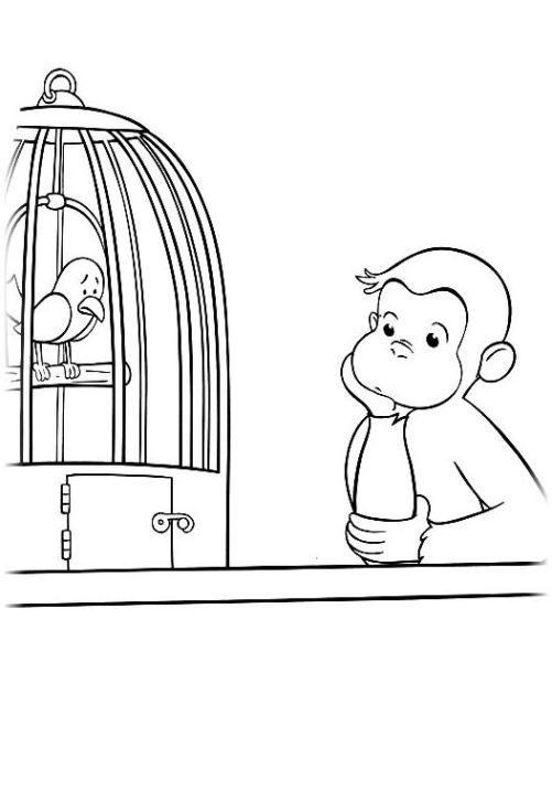 ausmalbilder für kinder coco der neugierige affe 24