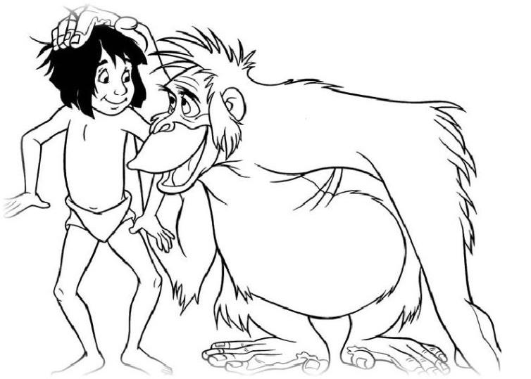 Ausmalbilder für Kinder Das Dschungelbuch 6