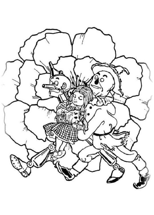 ausmalbilder für kinder der zauberer von oz 21