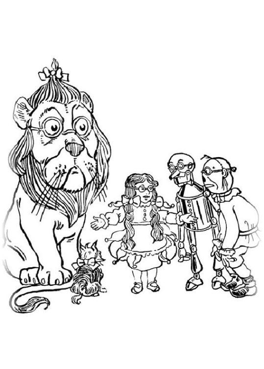 ausmalbilder für kinder der zauberer von oz 27