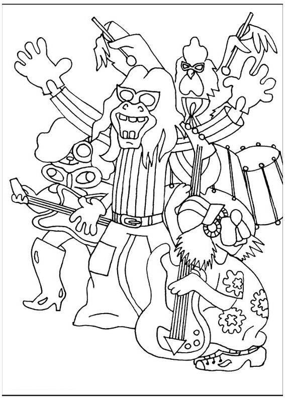 ausmalbilder für kinder die bremer stadtmusikanten 1