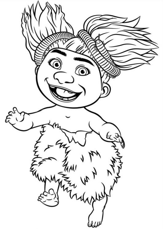 Ausmalbilder für Kinder Die Croods 16