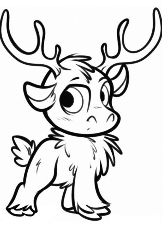 Frozen Reindeer Coloring Pages : Frozen reindeer colouring pages sketch coloring page