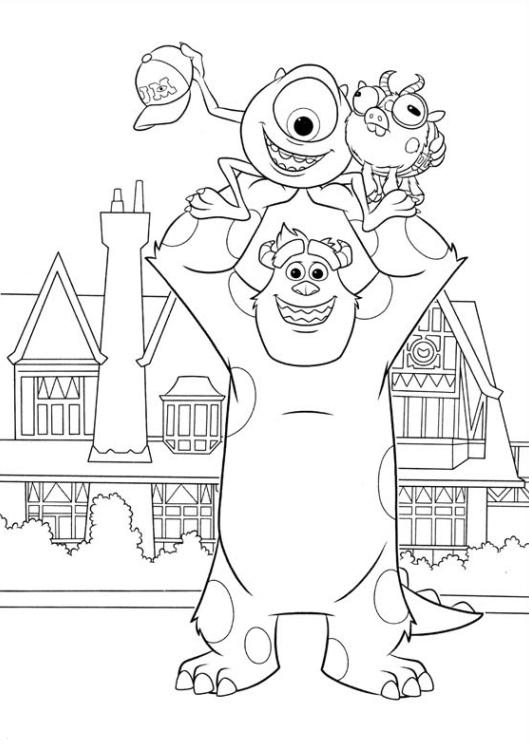 Ausmalbilder für Kinder Die Monster Uni 14