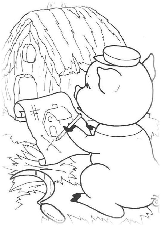 ausmalbilder für kinder die drei kleinen schweinchen 10