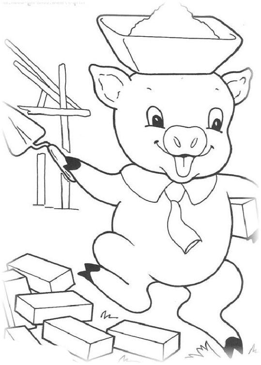 ausmalbilder für kinder die drei kleinen schweinchen 12
