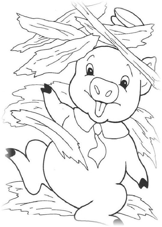 ausmalbilder für kinder die drei kleinen schweinchen 13