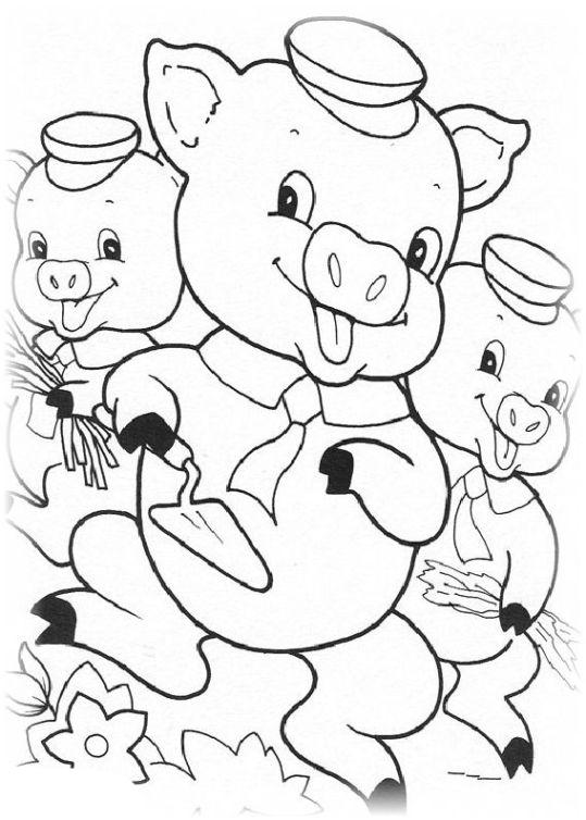 ausmalbilder für kinder die drei kleinen schweinchen 17