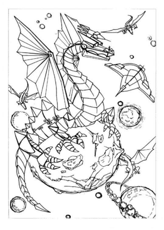 ausmalbilder für kinder drachen 15