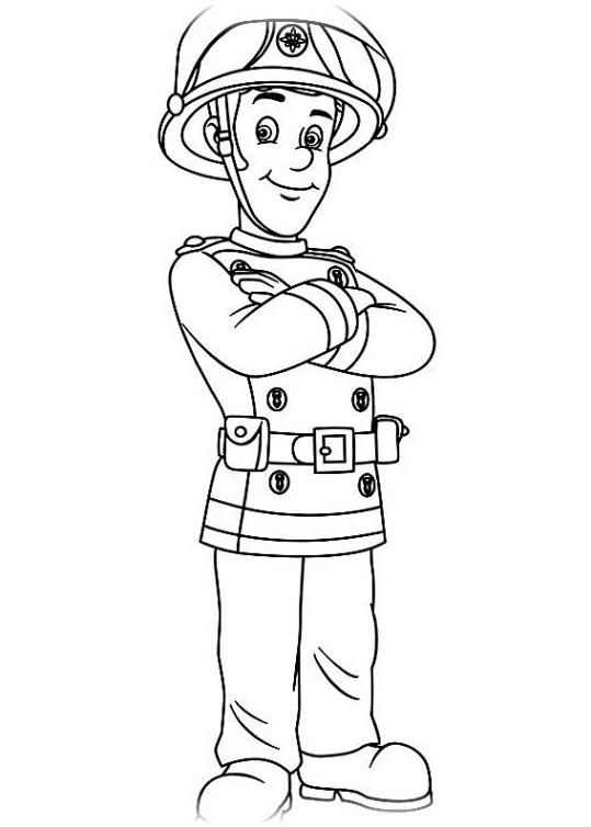 Ausmalbilder für Kinder Feuerwehrmann Sam 15