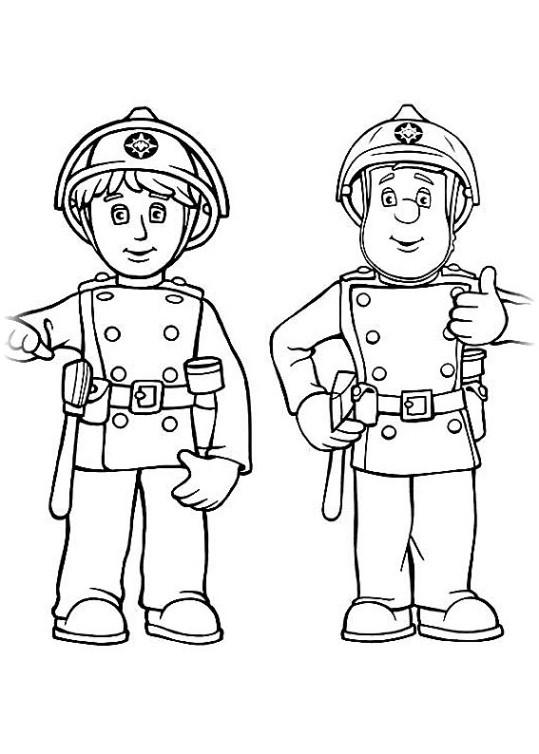 ausmalbilder für kinder feuerwehrmann sam 3