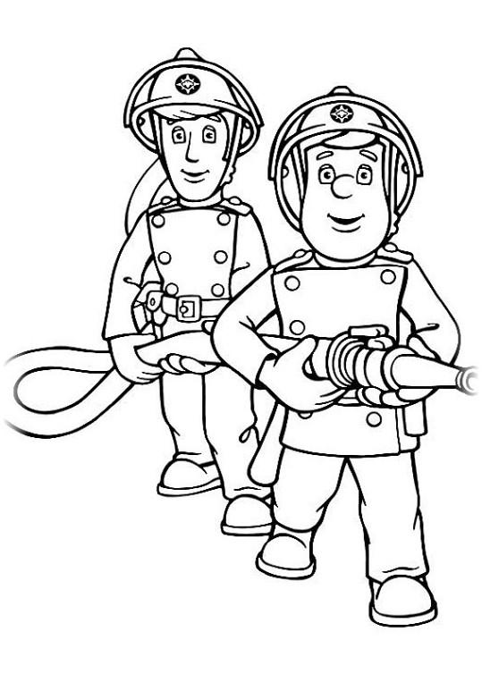 ausmalbilder für kinder feuerwehrmann sam 5