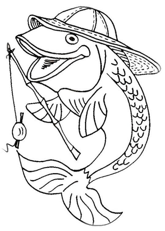 ausmalbilder für kinder fische 8