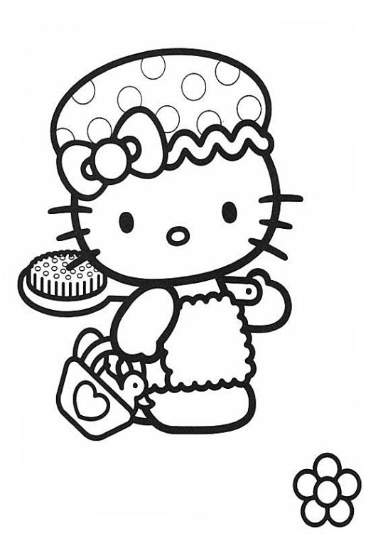 Ausmalbilder Für Kinder Hello Kitty 2
