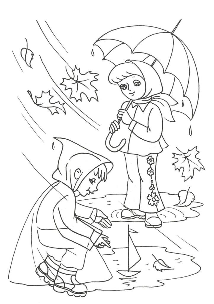 Ausmalbilder für Kinder Herbst 13