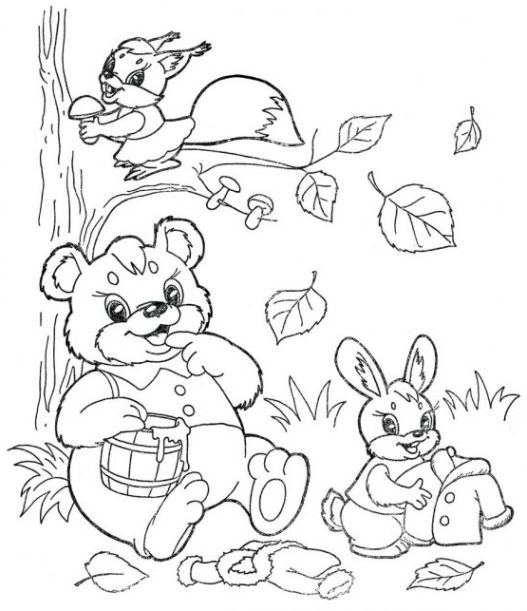 Ausmalbilder Für Kinder Herbst 4